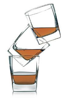 three glass of whiskey